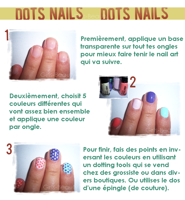 NAIL ART de la webmiss : Dots Nails. Petit points sur les ongles.