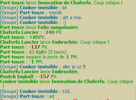 Un petit POUTCH en guilde :p for fun