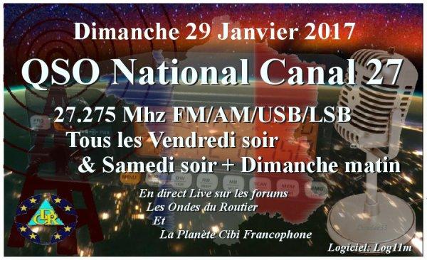 Dimanche 29 Janvier 2017 QSO National du canal 27