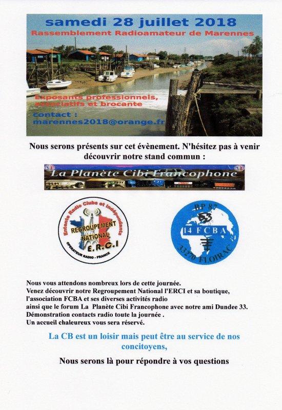 Présence de l'ERCI sur le salon du REF17 à Marennes (dpt.17)