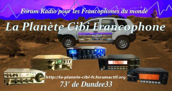 Modification des rubriques du forum 'La Planète Cibi Francophone'
