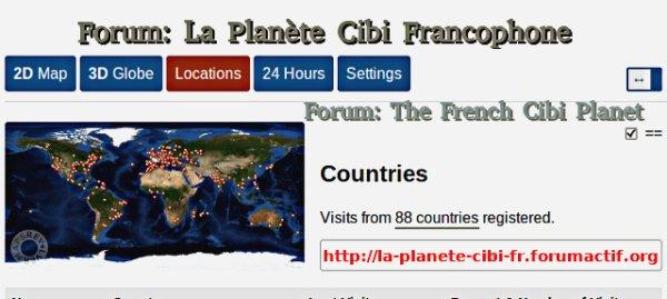 Nouveau record pour le forum: La Planète Cibi Francophone