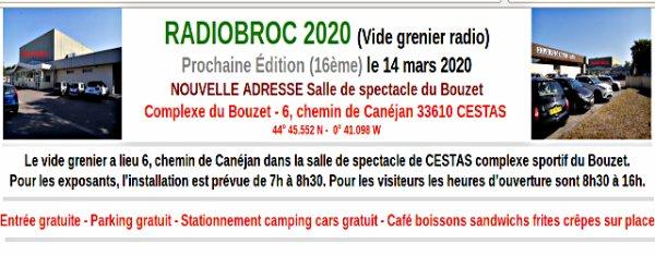 RADIOBROC 2020 (le 14 mars 2020)