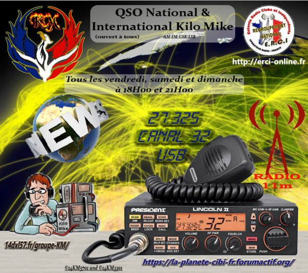 News du groupe DX Kilo Mike: QSO National & International Kilo Mike (ouvert à tous)