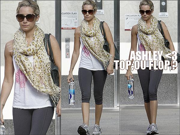 Lundi 10 octobre 2011 ▬ Comme d'habitude, nous y sommes habitués, Ashley quitte l'« Equinox Gym »