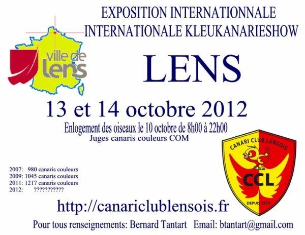 Et la pub pour l'expo du CANARI CLUB LENSOIS