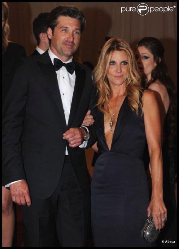 Patrick Dempsey et sa femme Jill lors du Met Ball organisé à New York le 2 Mai dernier.