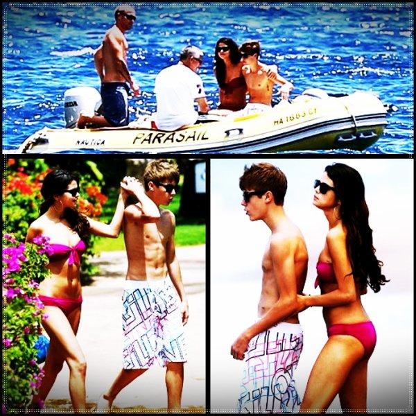 Justin et Selena en vacances !