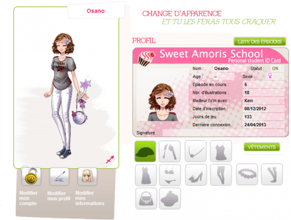 Création profil
