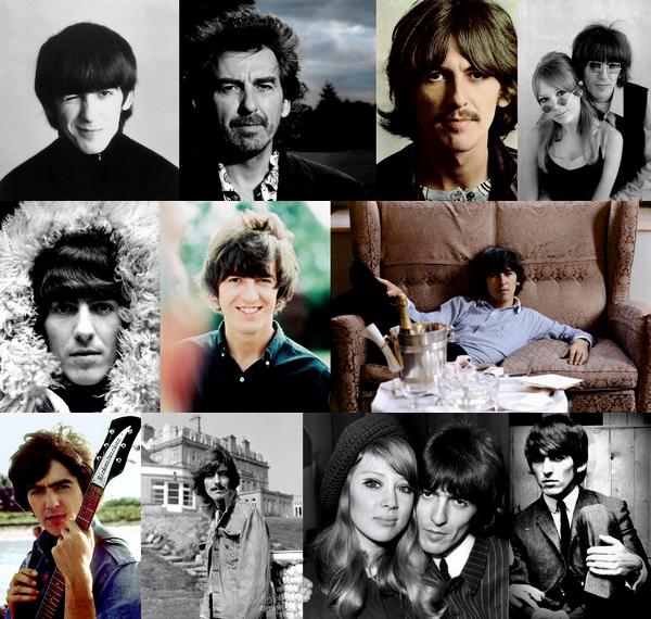 """George Harrison est né le 25 février 1943 à Liverpool, il intégre les Beatles grâce a Paul McCartney son ami d'enfance, son influence sur le groupe va croissant au fil des années, il composera de splendide chanson dont """"Here Comes the Sun"""", """"Something"""" ou encore """"While My Guitar Gently Weeps"""", principalement sur l'album """"Sgt Peppers Lonely Heart Club Band"""" il inssufle des sonorités indienne dans l'album.. ! A la séparation du groupe il entame une carrière solo avec un certains succées, il publiera aussi une autobiographie qui lui vaudra une brouille avec John Lonnon ce dernier lui repprochera de ne pas l'avoir cité une seule fois dans son livre.. Il sera a l'orgine de plusieurs concert caritatif notamment pour le Bangladesh.. ! George s'est etteinds  le 29 novembre 2001 aprés 4 ans de lutte contre un cancer du poumons.. aujourd'hui encore il est considérer comme un des plus grand artiste de la décénie.. !"""