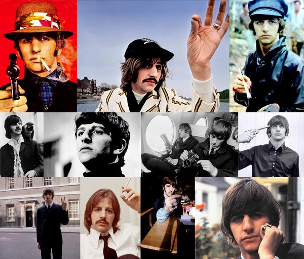 """Ringo Starr est né le 7 juillet 1940 à Liverpool, rejoint les Beatles aprés le départ de Pete Best, il évolue au seins du groupe comme batteur, et chante quelque chanson adapté a sa voix, dont """"Yellow Submarine"""" & """" With a Little Help from My Friends"""", il compose également quelque chansons dont """"Octopus Garden"""" et """"Don't Pass Me By"""" ! Aprés la séparation du groupe il se lance également dans une carrière solo, mais il connait un passage à vide dans les années 80 ou il sombre dans l'alcool, il revient en 1989 et depuis méne une carrière aux Etats Unis.. ! Ringo est considérée comme un des meilleurs batteur de tout les temps.. !"""