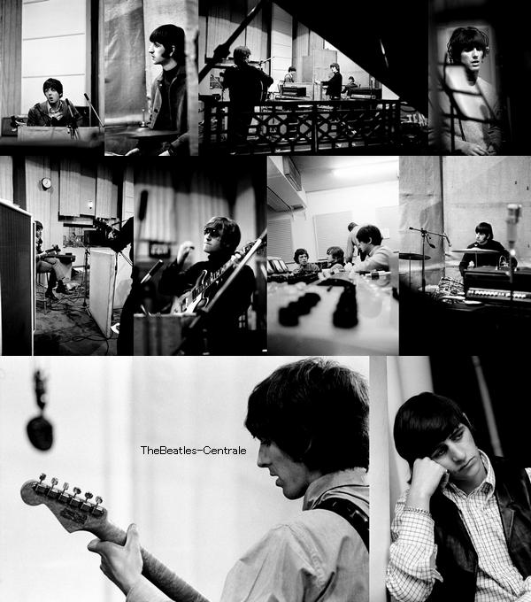 """29 juillet 1966, les Beatles sont en studio pour enregistrer un album de légende """"Revolver"""" ♥."""