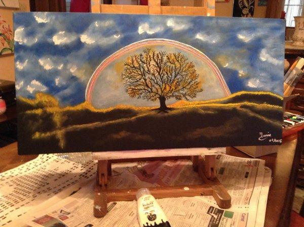 L'arbre dans la lumière