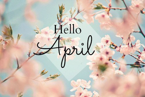 April be a good month...