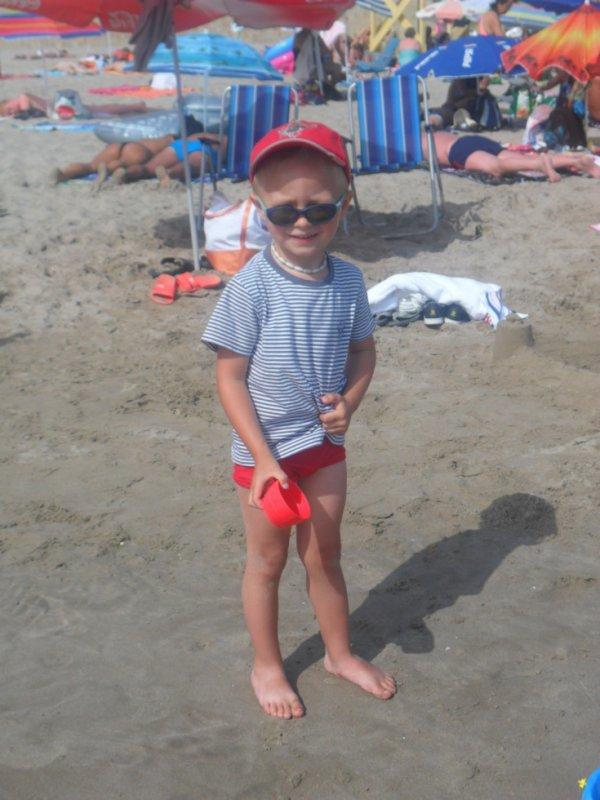 mathieu a la plage