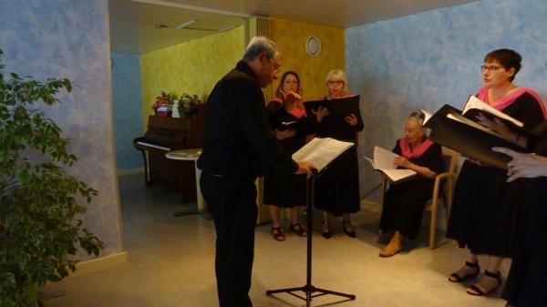 Concert à la Maison de retraite de LE FLEURY