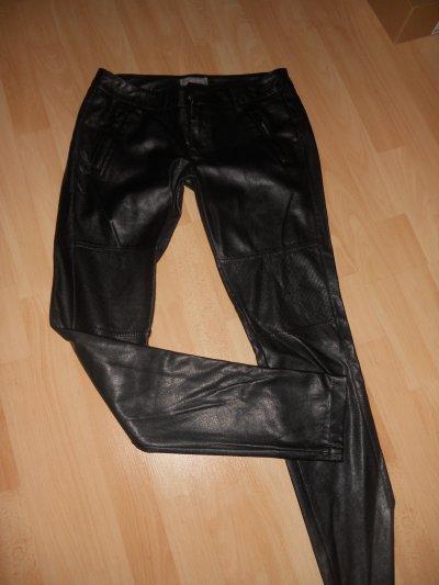 pantalon slim faux cuir T38