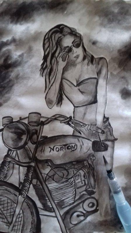 Elle dessine comme elle sait .......