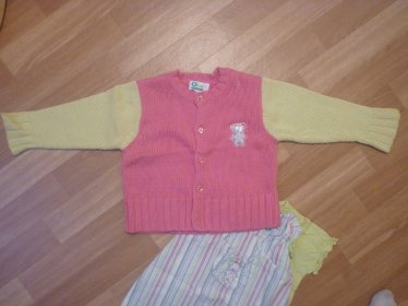 Ensemble Robe + bloomer+ tee shirt + Gilet 12mois  ==> 13¤  ( Verbaudet )
