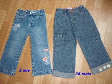 Jeans 2 ANS et 36 mois , 1 jean ==> 2¤
