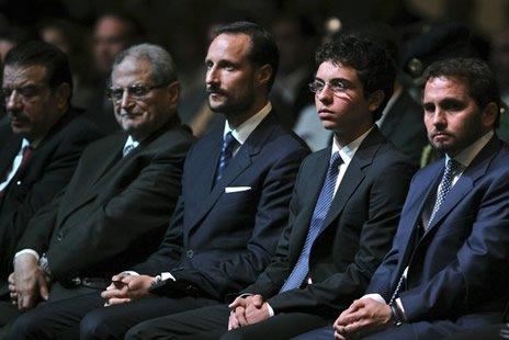 Actualité du 25/04/2012 (Hussein de jordanie reçoit le prince héritier de Norvège)