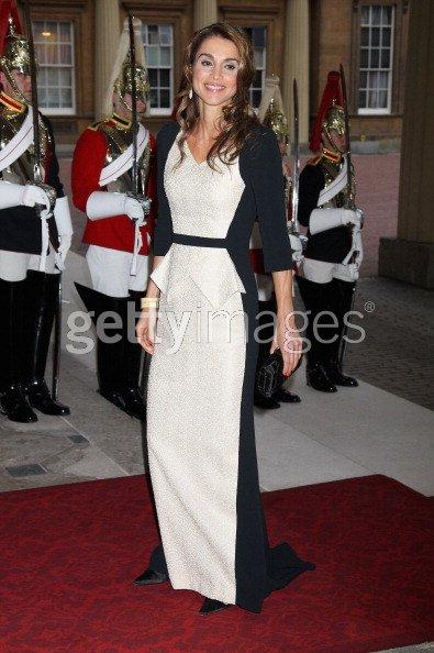 Le roi Abdullah II de Jordanie et sa femme la reine Rania ( Dîner jubilée de diamant 18/05/2012)