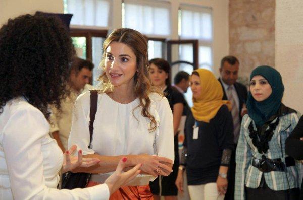 Actualité du 25/06/2012 (La reine Rania et  sa fille la princesse Iman à la Jordan River Foundation)