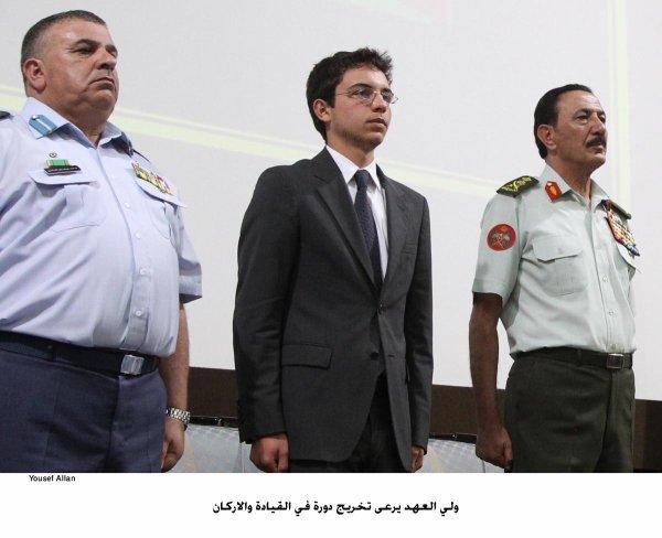 Actualité du 27/06/2012 (Le prince héritier Hussein de Jordanie patronne une cérémonie de graduation militaire)