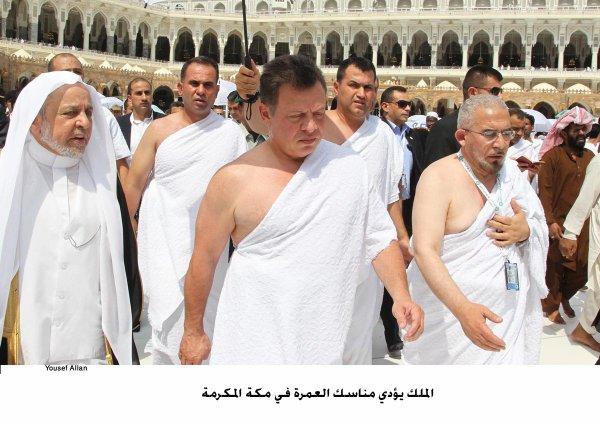 Actualité du 14/08/2012 (Le roi Abdullah II de Jordanie à la Mecque)