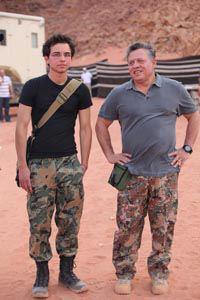 Le roi Abdullah II et le prince héritier Hussein !