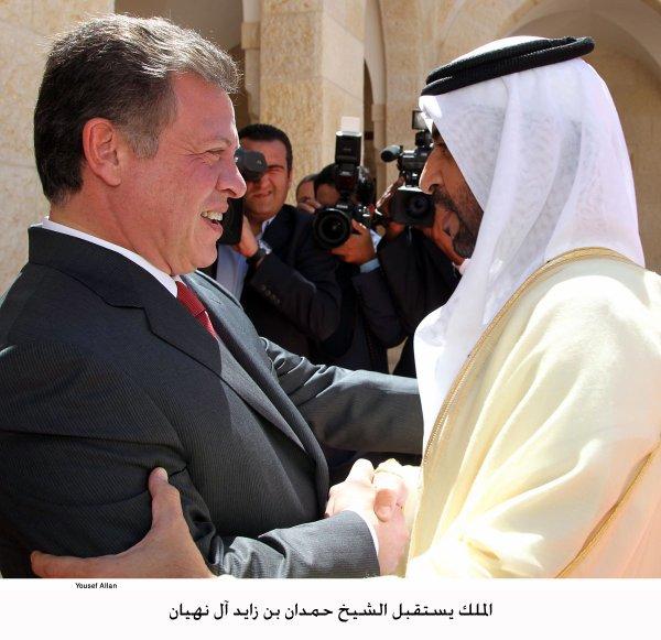Actualité du 02/09/2012 (Le roi et le Cheikh Hamdan bin Zayed Al Nahyan)