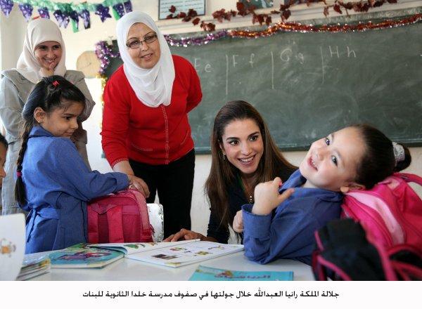 Actualité du 16/09/2012 (La reine Ranie et les écolières)