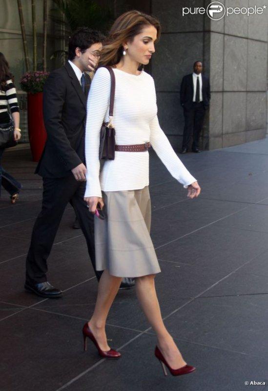 Actualité du 23/09/2012 (La reine Rania et le prince héritier Hussein de Jordanie à la Clinton Global Initiative)