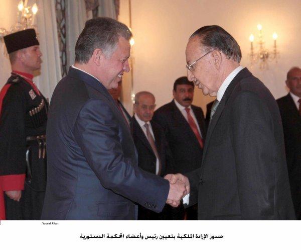 Actualité du 06/10/2012 (Le roi et les nouveux membres de la cour constitutionnelle)