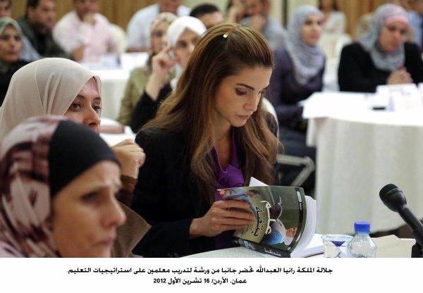 Actualité du 16/10/2012 (La reine Rania et l'éducation national)