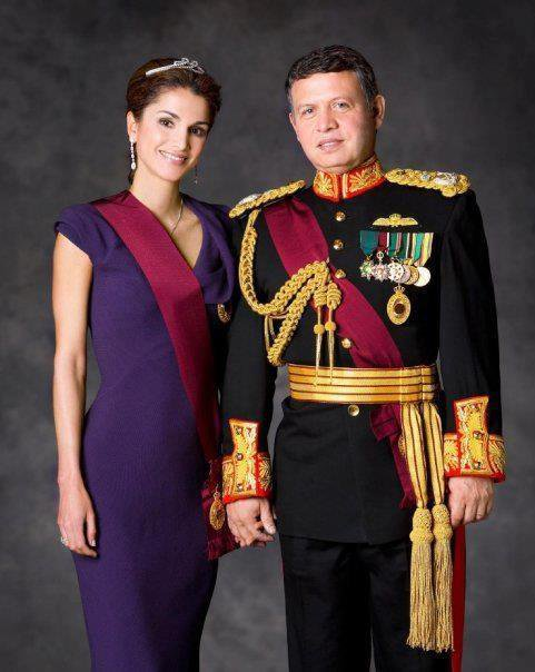Le Roi Abdullah II et la Reine Rania Al Abdullah II de Jordanie !