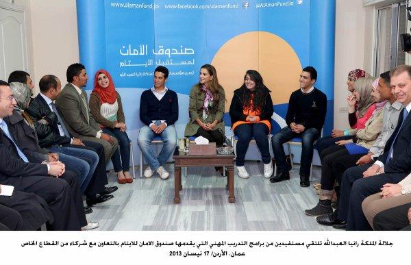 Actualité du 17/04/2013 (La reine Rania et les orphelins)