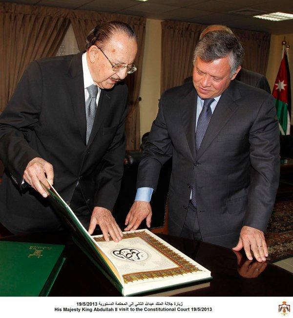 Actualité du 19/05/2013 (Le roi Abdullah II et la Cour constitutionnelle)