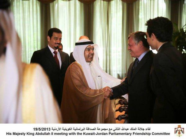 Actualité du 19/05/2013 (Le roi Abdullah II, le prince héritier Hussein et les parlementaires koweïtient)