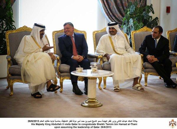 Actualité du 26/06/2013 (Le roi au Qatar et le prince héritier régent)
