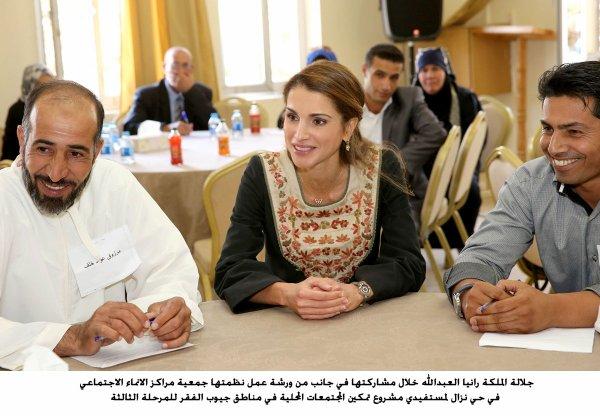 Reportage photos : La reine Rania en Caftan Jordanien !
