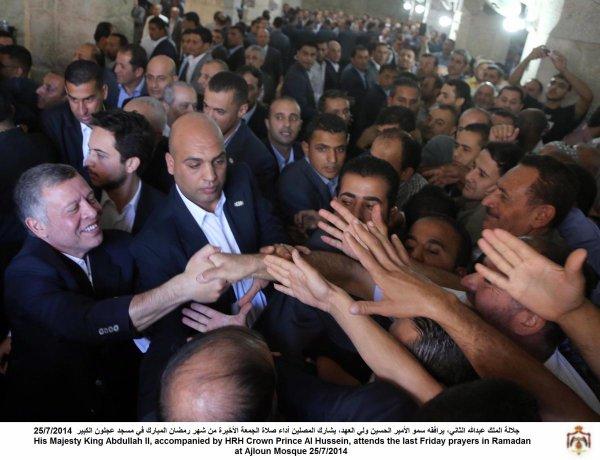 Actualité du 25/07/2014 (Le roi et le prince héritier à la mosquée)