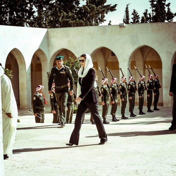 Actualité du 14/11/2014 (Le roi et la reine Rania au cimetière)