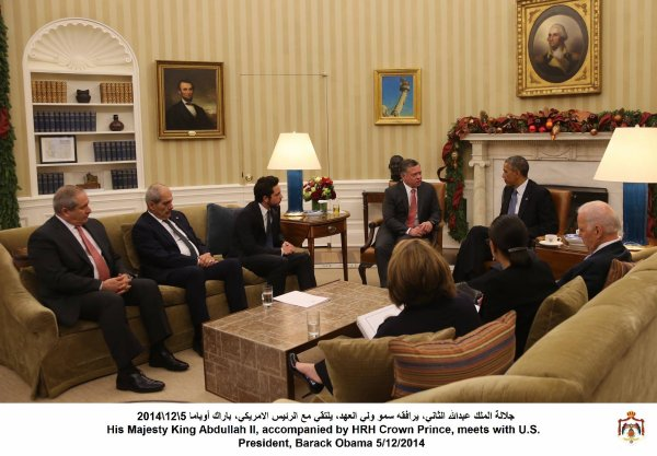 Actualité du 05/12/2014 (Le roi Abdullah II, le prince héritier et le président Obama)