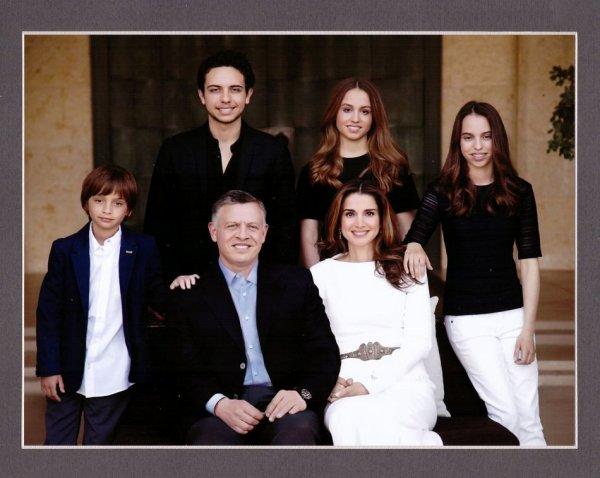 Carte de voeux de la famille royale Hashémite 2015