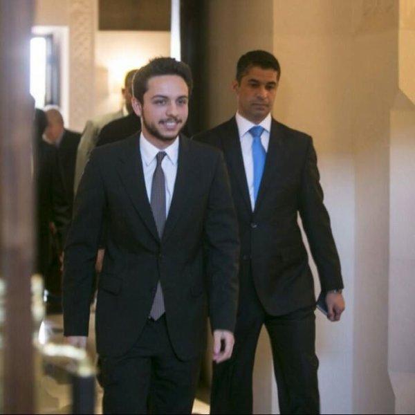 Le prince héritier Hussein bin Abdullah II de Jordanie