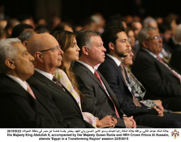 Actualité du 22/05/2015 (Le roi, la reine et le prince héritier au WEF)