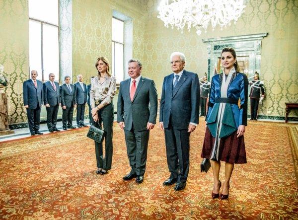 Actualité du 10/12/2015 (Le roi et la reine en Italie)