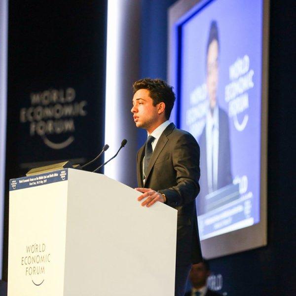 Photos : Le prince héritier Al Hussein bin Abdullah II de Jordanie au World Economic Forum (MENA)