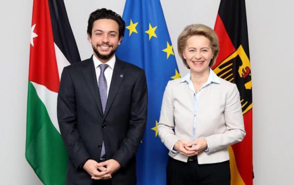 Le prince héritier Hussein de Jordanie à Berlin
